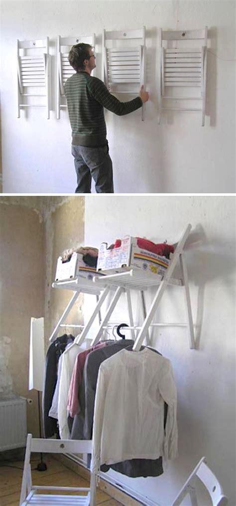 diy hanging chair closet organizer
