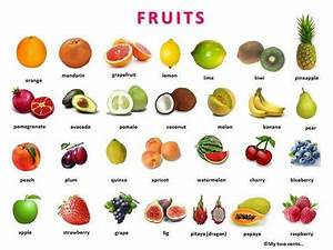 Fruit Berries and Vegetables with pictures and a word list ...