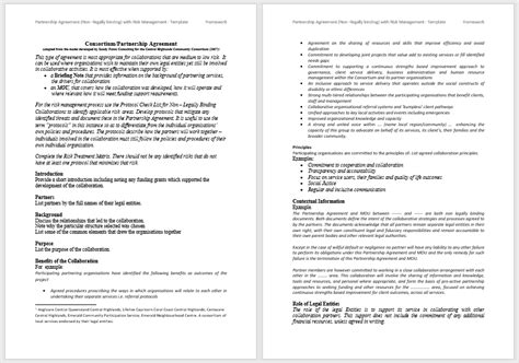partnership agreement templates   samples