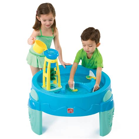 play day sand and water activity table waterwheel play table kids sand water play step2