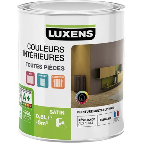 peinture blanc blanc 0 luxens couleurs int 233 rieures satin 0 5 l leroy merlin
