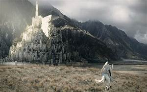 Gandalf galopping to Minas Tirith - Lord of the Rings ...