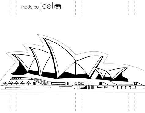 template   joel paper city sydney opera house