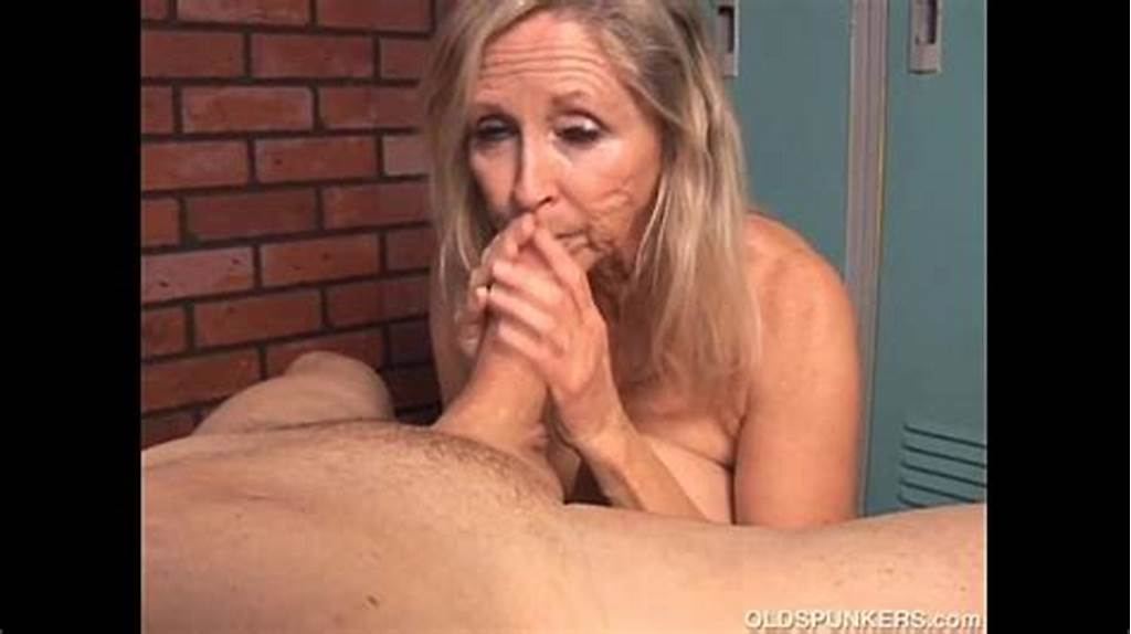 #Beautiful #Blonde #Old #Spunker #Sucks #Cock #And #Eats #Cum