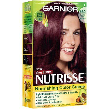 Darkest Hair Color by Garnier Nutrisse Nourishing Hair Color Creme Reds 362