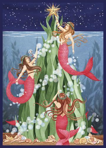 mermaid christmas images  pinterest christmas