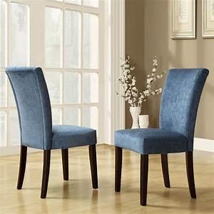 Oxford Creek Rachel Royal Blue Chenille Parson Chairs Set