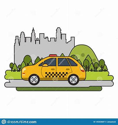 Taxi Cab Isolated Vehicle