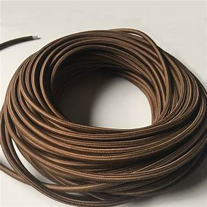 3x0 75mm2 5  10m 3 Core Fabric Lamp Wire Vintage Lamp Cord