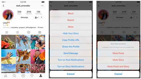 instagram hide posts stories profile without account unfollowing story accounts icon tray right both mute dotted three tapping