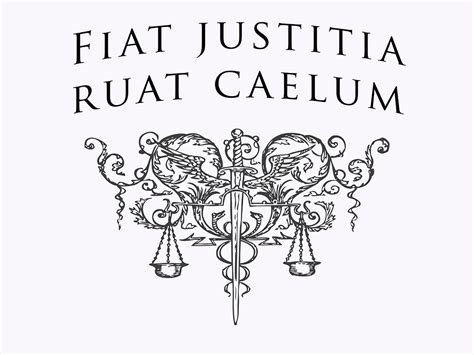 Fiat Justitia by Robbery Detective Poster