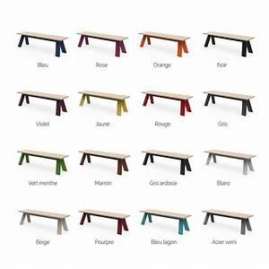 Banc Exterieur Design : banc design en bois et m tal personnalisable int rieur et ext rieur ~ Teatrodelosmanantiales.com Idées de Décoration
