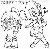 Chipettes Coloring Colorings Template sketch template