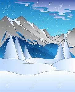 Snowy Mountain Clipart – 101 Clip Art