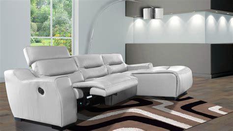 canapé d angle relax cuir canape design relax cuir slik blanc mobilier cuir