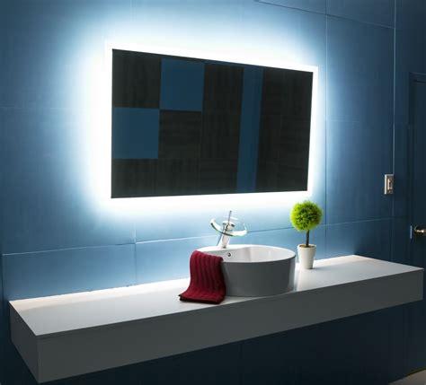 mirrors elegant backlit bathroom mirror   modern