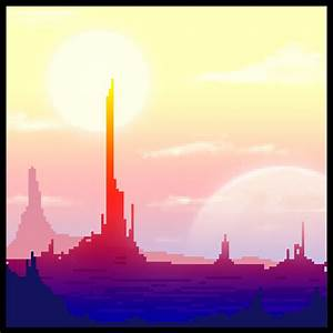 Ricky Westwood: Pixel Art: Scifi Landscape