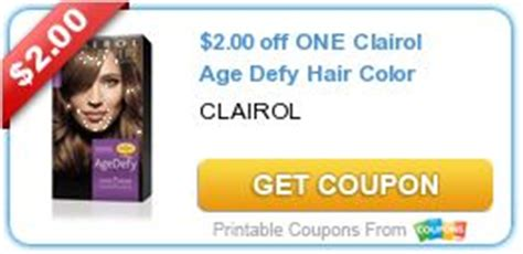 2 00 one clairol age defy hair color coupons colors hair and printable coupons