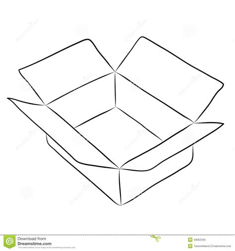 drawing  box stock vector illustration  goods paper