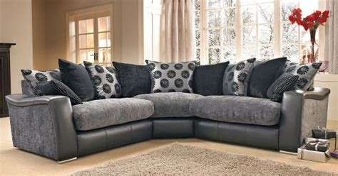 lowri corner sofa  dfs blackgrey gray big houses
