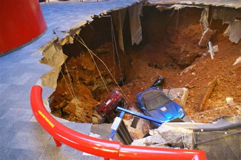 corvette museum sinkhole dirt chevrolet national corvette museum to restore three