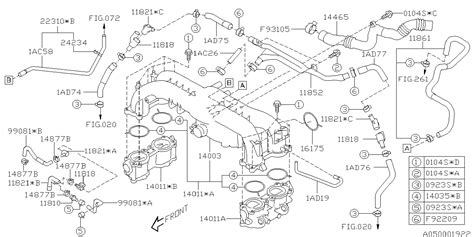 Subaru Intake Manifold Diagram by 14035aa492 Genuine Subaru Gasket Intake Manifold