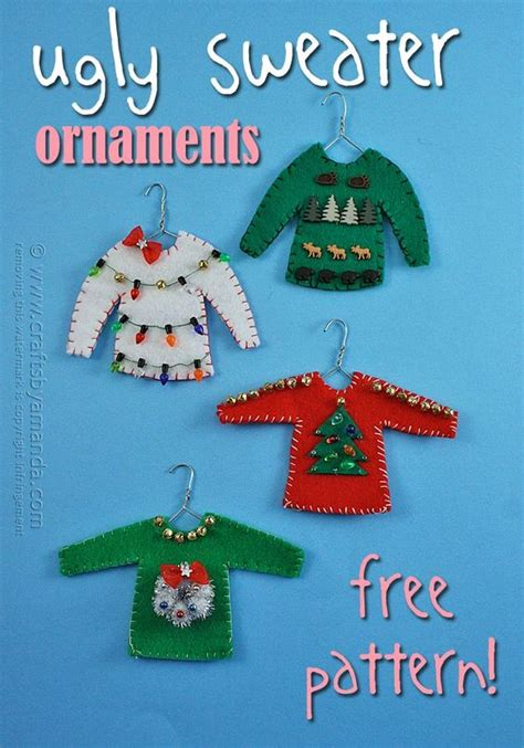 ugly sweater ornaments recipe christmas ornament