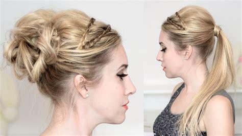 tuto coiffure de fetes reveillon jour de lan chignon