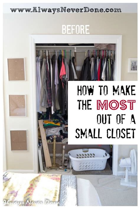 Small Narrow Closet Organization Ideas by How To Make The Most Out Of A Small Closet Do It