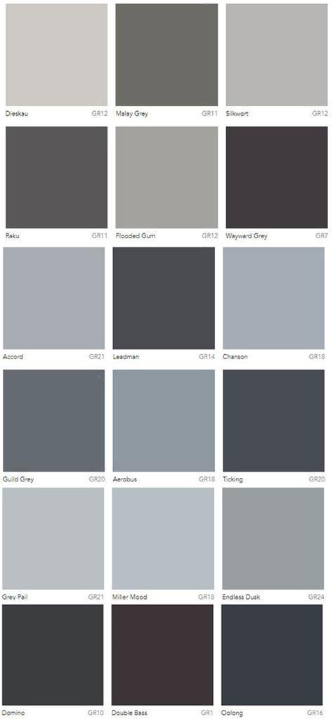 Grey Colour Charts Dulux Australia   Interiors By Color