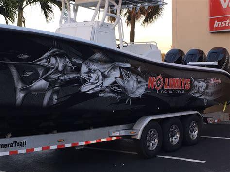 boat graphics florida wraps fishing custom vinyl marine wrapped boatwraps