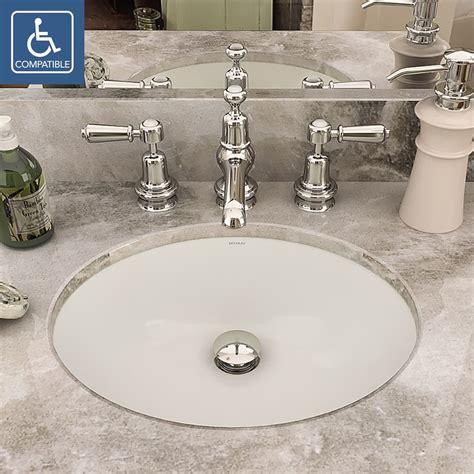 white kitchen sink undermount decolav carlyn 1401 series oval undermount vitreous 1401