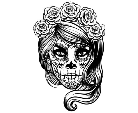 Sugar skulls can be used with cricut and silhouette. Pin by Corey Ventura on Tattoos | Sugar skull girl ...