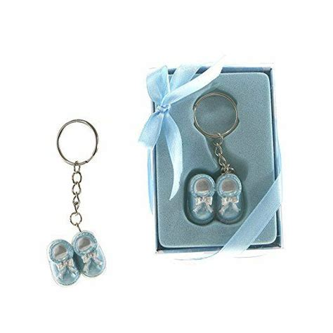 baby shower keychains set of 12 quot boy quot blue shoes key chain favors lunaura