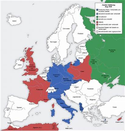 Map Europe Animated German Depicting Control War