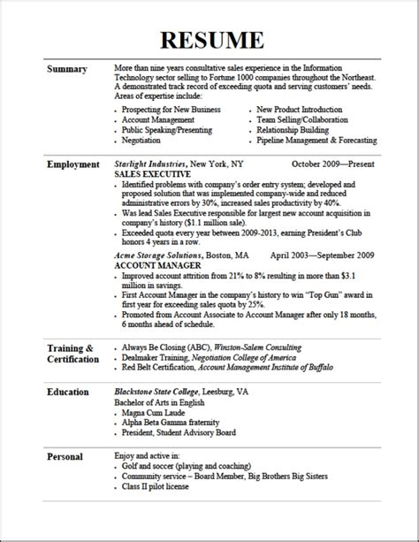 exles of resumes resume templates you can