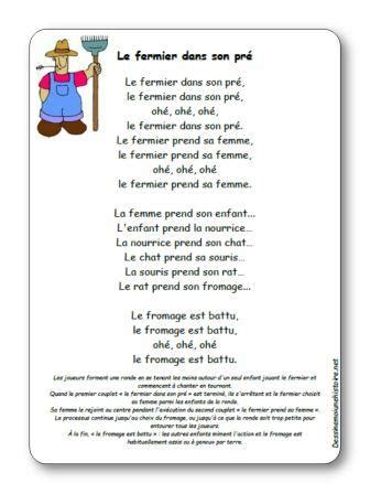 chanson le fermier dans son pre paroles illustrees le