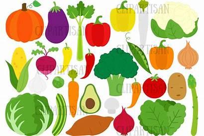 Clipart Vegetables Healthy Broccoli Veggies Carrot Thehungryjpeg