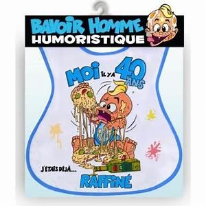 Jeux Pour Mariage Rigolo : bavoir humoristique 40 ans homme ~ Melissatoandfro.com Idées de Décoration