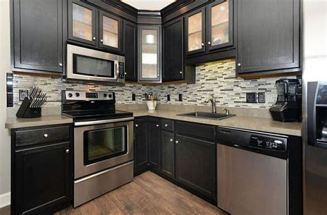 black kitchen island with granite top 27 small kitchens with cabinets design ideas