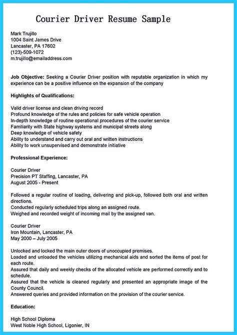 Objective For Resume For Driving by Best 20 Resume Objective Exles Ideas On