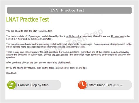 Information And Practice Tests