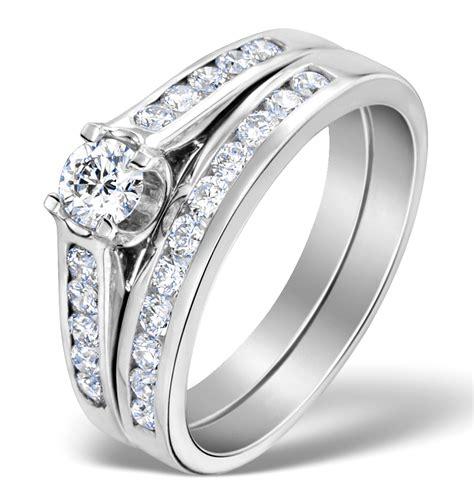 matching diamond engagement and wedding ring 0 86ct platinum dn3229 item sdn3229
