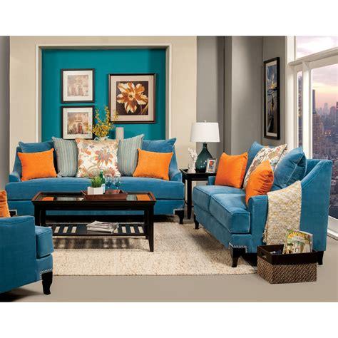 furniture  america peacock blue neliz  piece premium