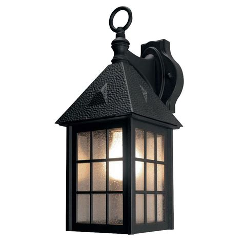 newport coastal belmont black outdoor wall lantern