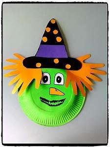 Bricolage Halloween Adulte : une sorci re en assiette en carton bricolages d 39 halloween halloween bricolage enfants ~ Melissatoandfro.com Idées de Décoration