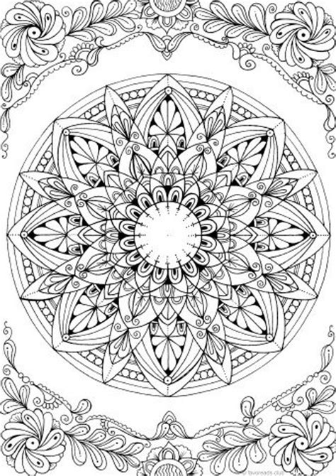 mandala printable adult coloring page  favoreads