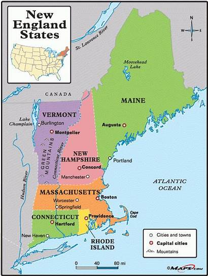 England Maine Connecticut Lobster States Maps Rolls