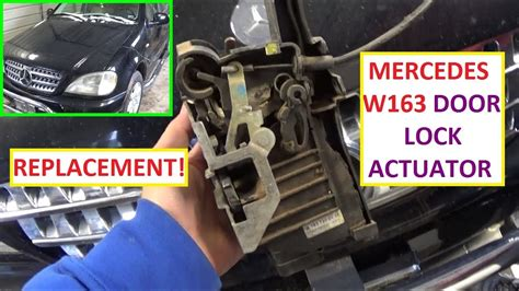 remove  replace door actuator mercedes