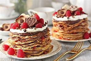 Chocolate Rasperry Mini Crepe Cakes - SugarHero